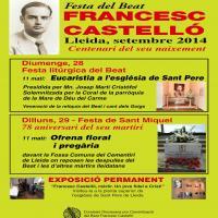 Actes pel centenari del beat Francesc Castelló